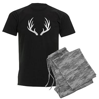 ba48a52ef6 CafePress White 12 Point Deer Antlers Pajamas Unisex Novelty Cotton Pajama  Set