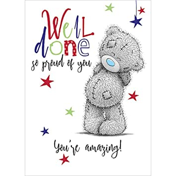 Me To You Ass01073 Well Done So Proud Of You Card Amazoncouk