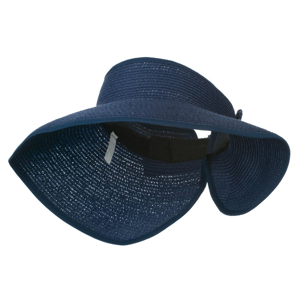 Jeanne Simmons UPF 50+ Bow Closure Roll Up Visor - Navy OSFM by Jeanne Simmons