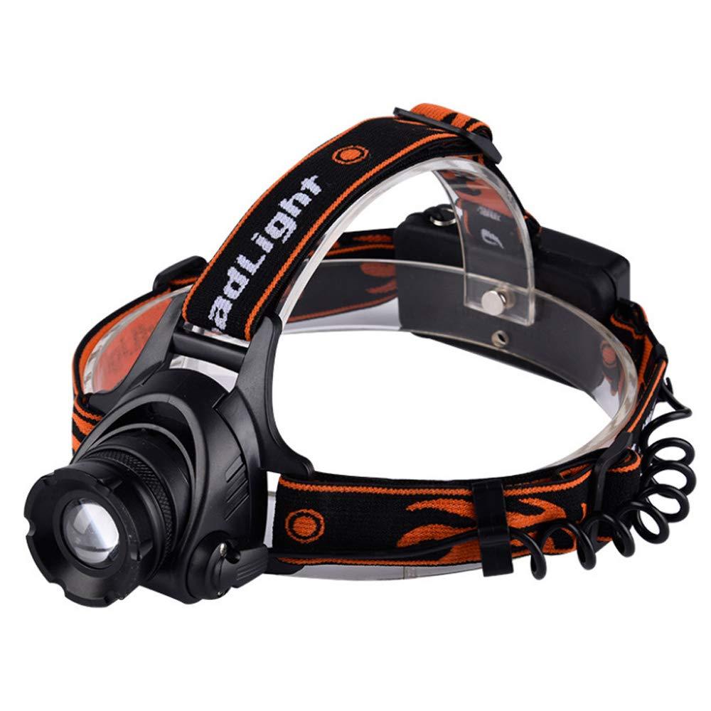 ZOUQILAI Flashlight LED Headlamp 2000 Lumen XML T6 Headlight 3 Modes Waterproof Zoomable Light Torch Rechargeable