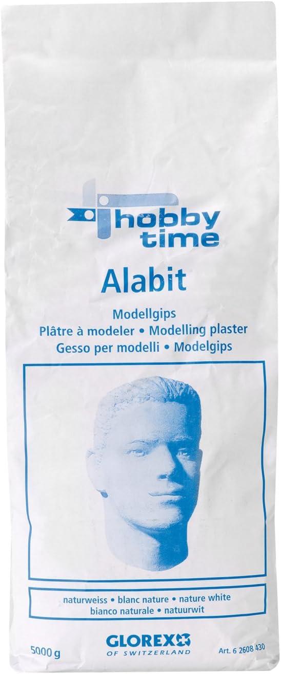 Glorex Alabit 7 x 10 x 22 cm Bianco Gesso