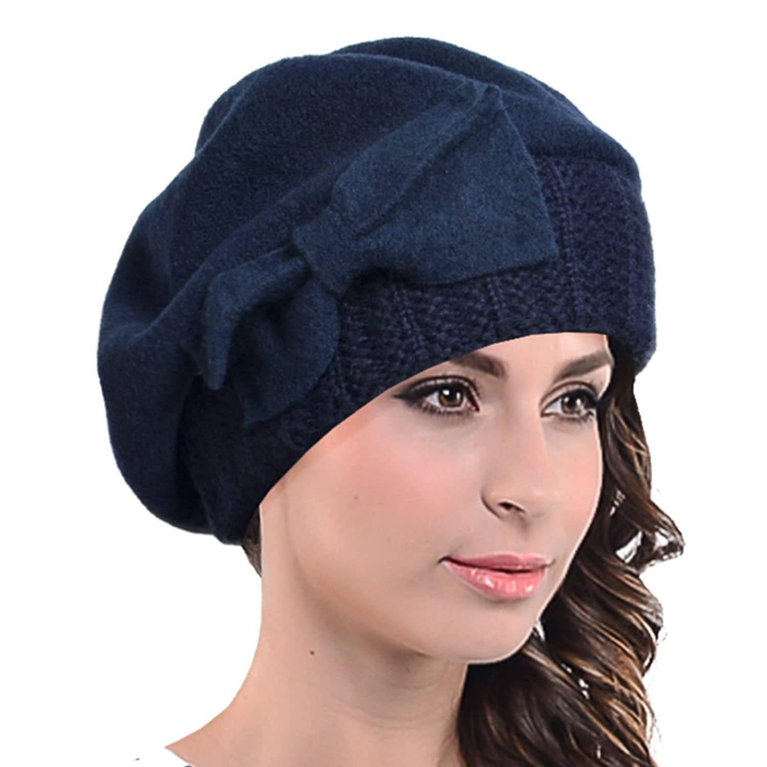 Tea Party Hats – Victorian to 1950s Lady French Beret Wool Beret Chic Beanie Winter Hat Jf-br034 $21.99 AT vintagedancer.com