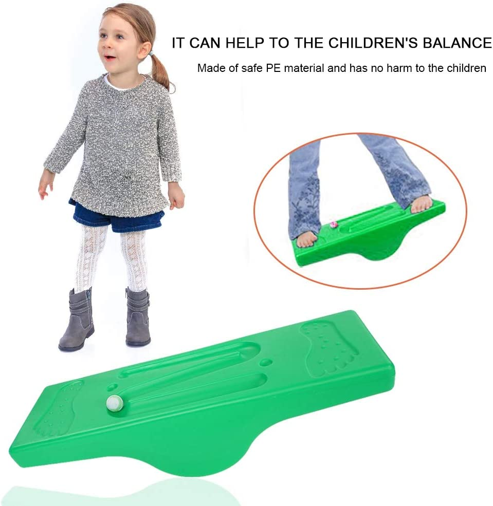 VGEBY1 Balance Board Toys Children Sensory Integration Balance Training Board with 6 Balls for Workout Fitness