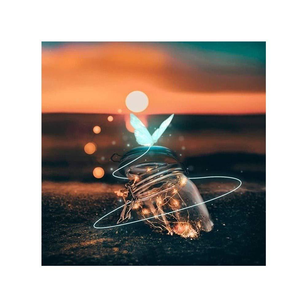 ShuoBeiter 5D Diamante Pintar por número Kits DIY para Adultos Punto de Cruz Completo Conjunto de Herramientas Bordado Letras Arte Imagen Suministros Casa Pared Decoración (Bottle 2)