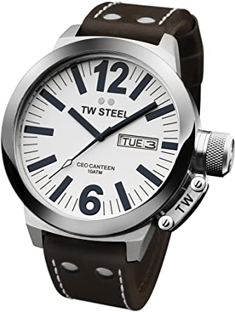 6117295d6d8c Amazon.com  TW Steel Men s CE1005 CEO White Dial Watch  TW Steel ...