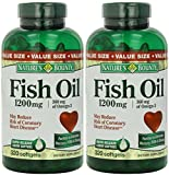 Set of 2 Nature's Bounty Fish Oil 1200 mg, 320 Softgels by Maven Gifts