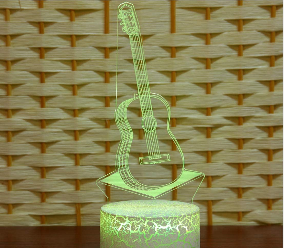 3D Illusion Bedside Table Lamp,Night Light Touch Remote