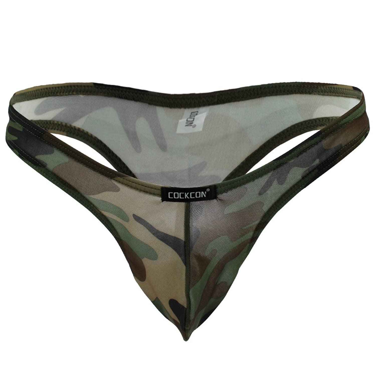 iEFiEL Mens Bulge Pouch Thong Camouflage Bottoms Underwear G-String at Amazon Mens Clothing store: