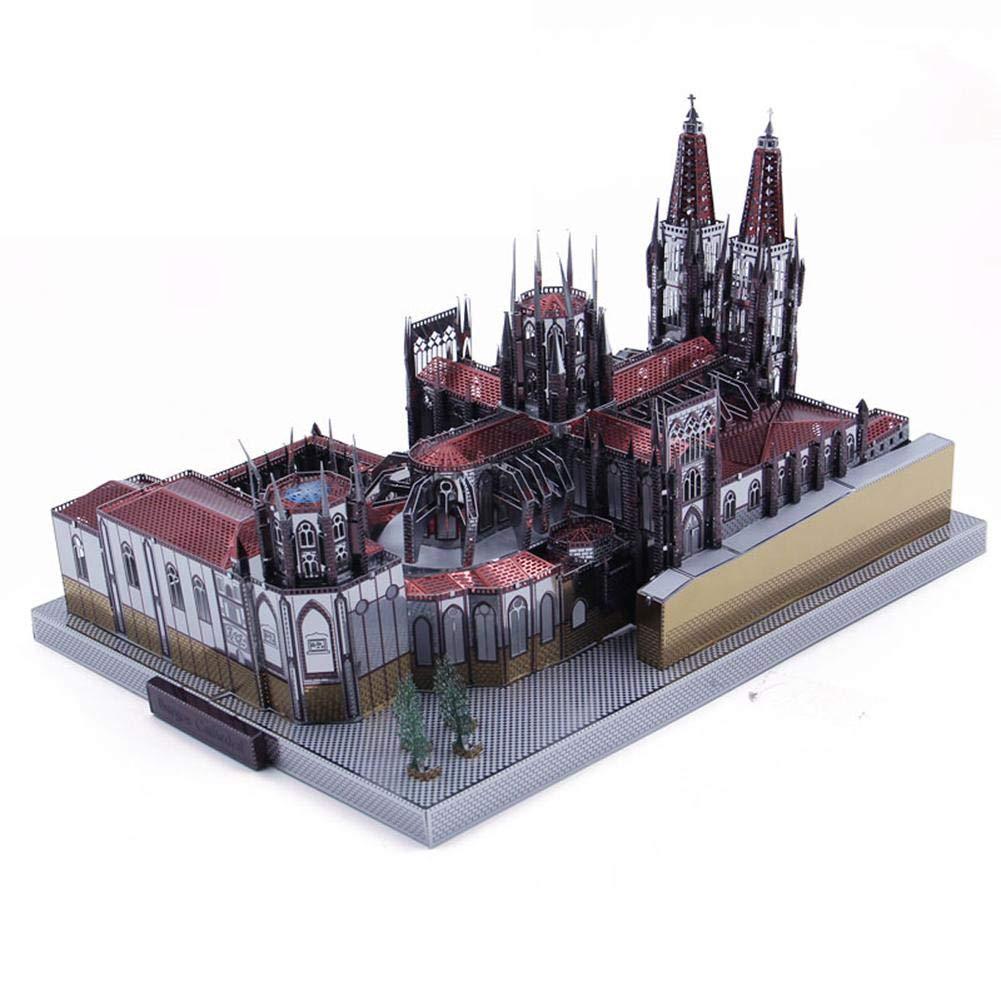 puzzle 3d Burgos Cathedral Modelo 3D Metal Puzzle DIY ...