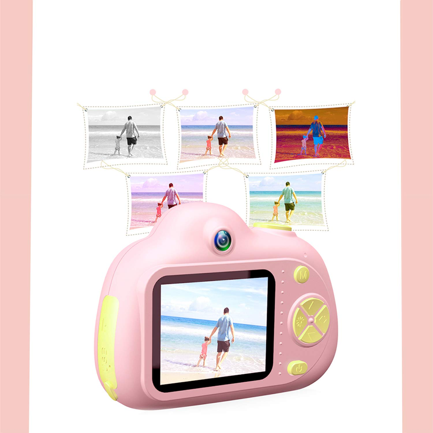 ESROVER Kids Digital Camera,2.0 Inch Screen 8MP Dual Shockproof Cameras Toys with Silicone Soft Cover Best Gifts Mini Selfie Camcorder for 4-8 Year Old Girls Boys Children by ESROVER (Image #9)