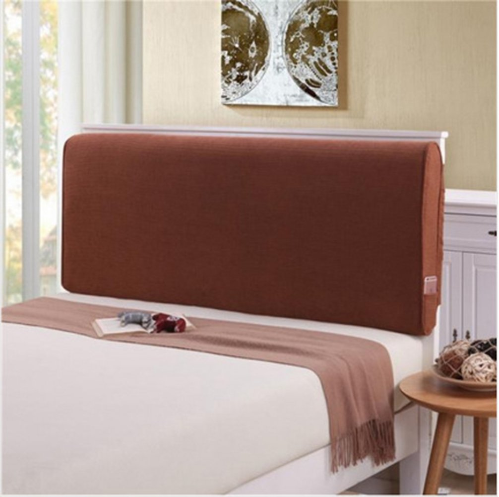 YXCSELL Large Upholstered Headboard Filled Triangular Soft Wedge Cushion Backrest Positioning Support Reading Pillow Lumbar Pad for Sofa Bed with Removable Cover Coffee 79x4x24 Inches