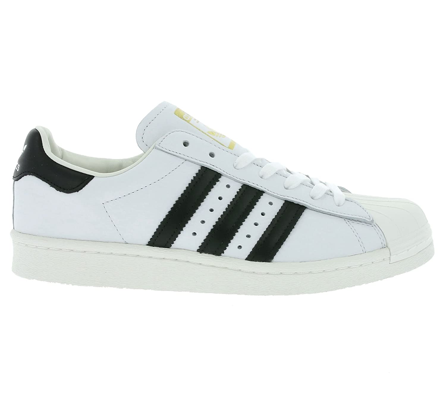 promo code 64413 44d46 adidas Mens Originals Superstar Boost Trainers in White Black Gold  Amazon.co.uk   Shoes   Bags
