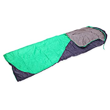 Shuzhen,Saco de Dormir de Sobre Grueso Resistente al Agua de Empalme Plegable al Aire Libre(Color:Gris + Fluorescente Verde,Size:R): Amazon.es: Hogar