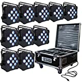 LED Battery Powered Wireless DMX - 10 Lights with Case - 9x5w RGBAW - Up Light - Weddings