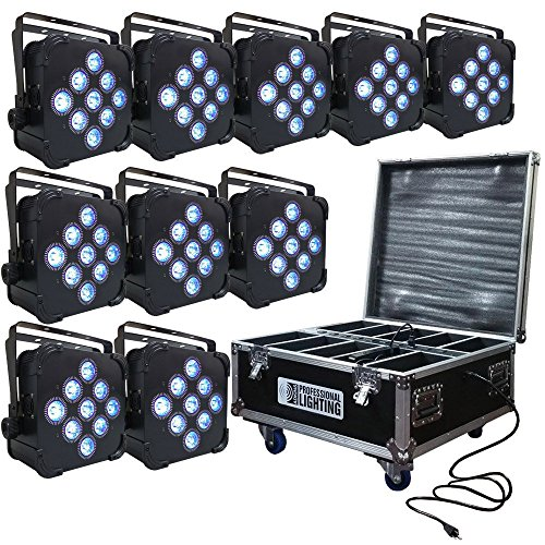 LED Battery Powered Wireless DMX - 10 Lights with Case - 9x5w RGBAW - Up Light - Weddings by Adkins Professional lighting