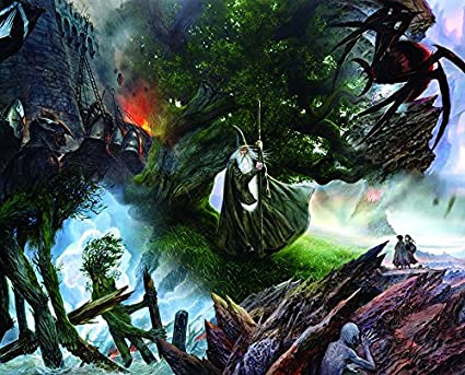 18feca842bb6 Springbok Puzzles - Lord of The Rings Collage - 1000 Piece Jigsaw Puzzle -  Large 24