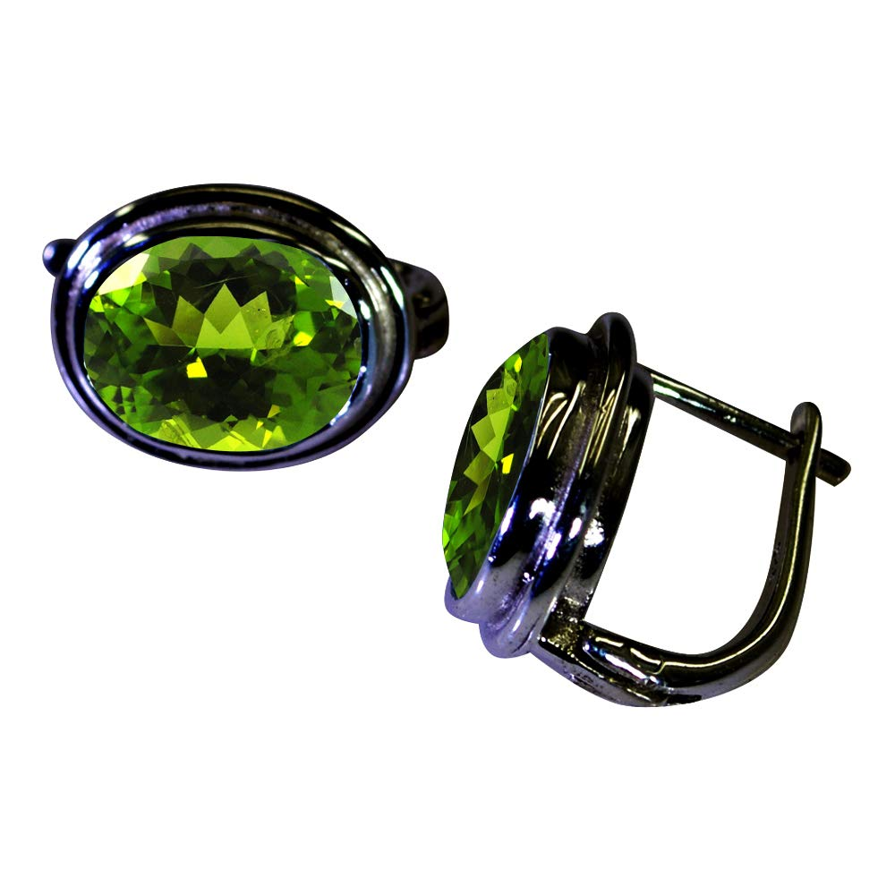 CHOOSE YOUR COLOR Natural Gemstones Silver Stud Earrings For Women Daily Wear Jewelry With Bezel Setting