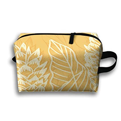 f42587511 Amazon.com  Travel Cosmetic Bag Portable Handbag Tropical Plants ...