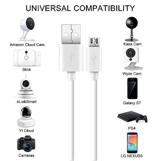 Cable de extensión de alimentación para cámara de seguridad: Amazon.es: Electrónica