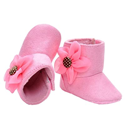 Ouneed® 2-14 mois Bebe Naissance Chausson Botte Premier pas Chaussure (11, Rose)