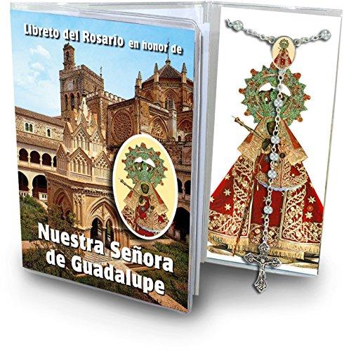 Ferrari & Arrighetti Librito con Rosario de la Virgen de Guadalupe (Extremadura) – en español
