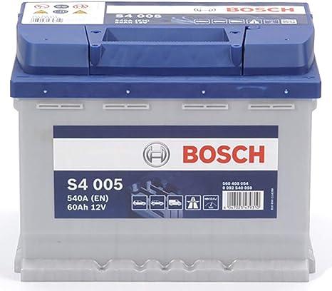 Bosch S4005 Batteria Auto 60A/h-540A, 12V: Amazon.it: Auto e Moto