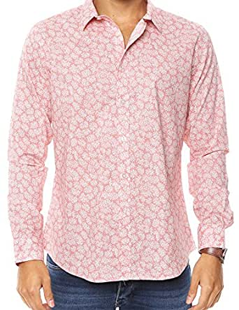 OnsloW Men's Casual Dress Shirt Long Sleeve Slim Fit Button-Up - Multiple Designs