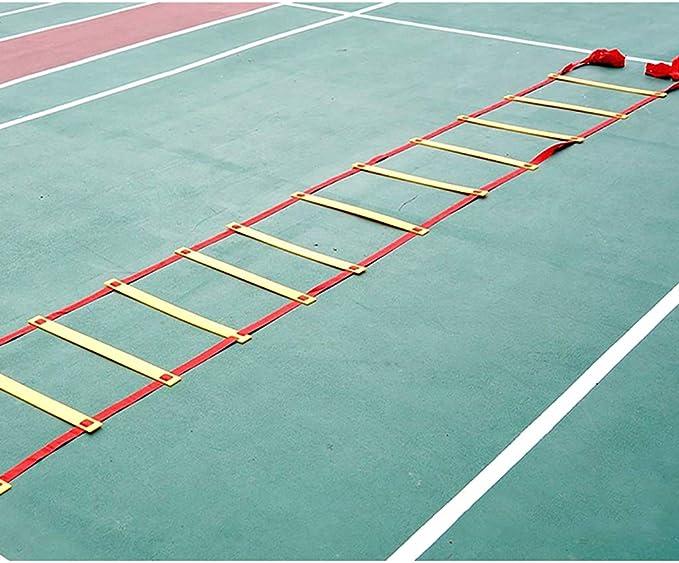 Xin 10M 20 Peldaño Agilidad Velocidad General Perfil Formación de Escalera for el fútbol, Carry Velocidad, Pies Fútbol Entrenamiento de la Bolsa: Amazon.es: Deportes y aire libre