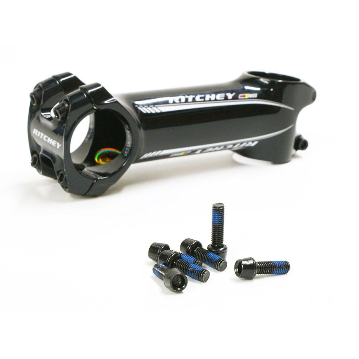 Ritchey c220自転車ステム交換用ボルトセット – 6ピース B073XVF744ブラック
