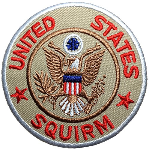 United states Squirm size 8cm. Logo Jacket Vest shirt hat blanket backpack T shirt Patches Embroidered Appliques Symbol Badge Cloth Sign Costume Gift