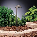 Kichler 15423AZT Eclipse Path & Spread 1-Light 12V, Textured Architectural Bronze