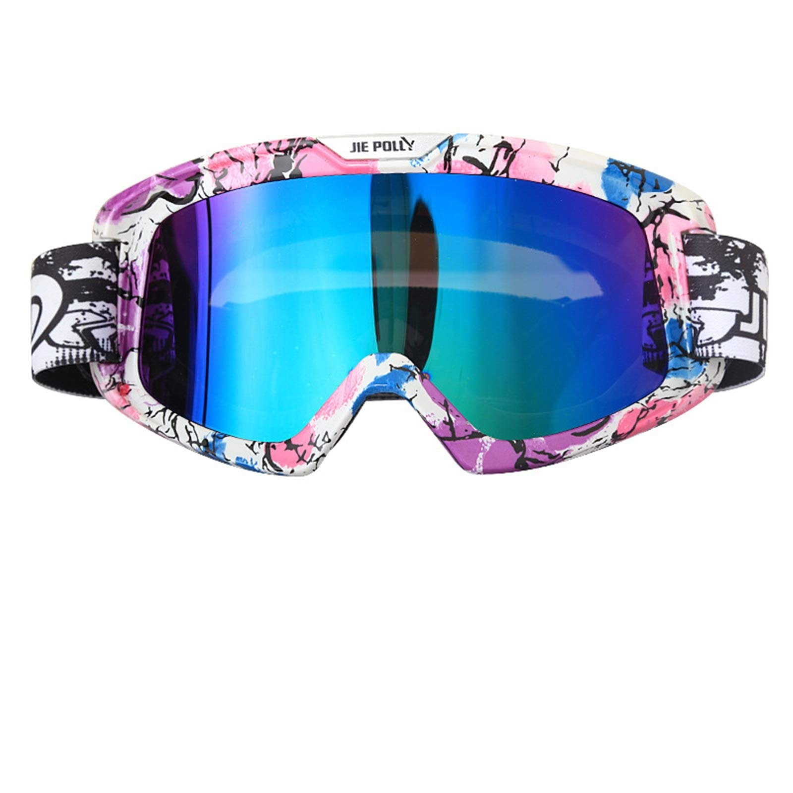 Adisaer Riding Goggles Motorcycle Equipment Off-Road ski Sand-Proof Goggles Colorful A02 for Adults