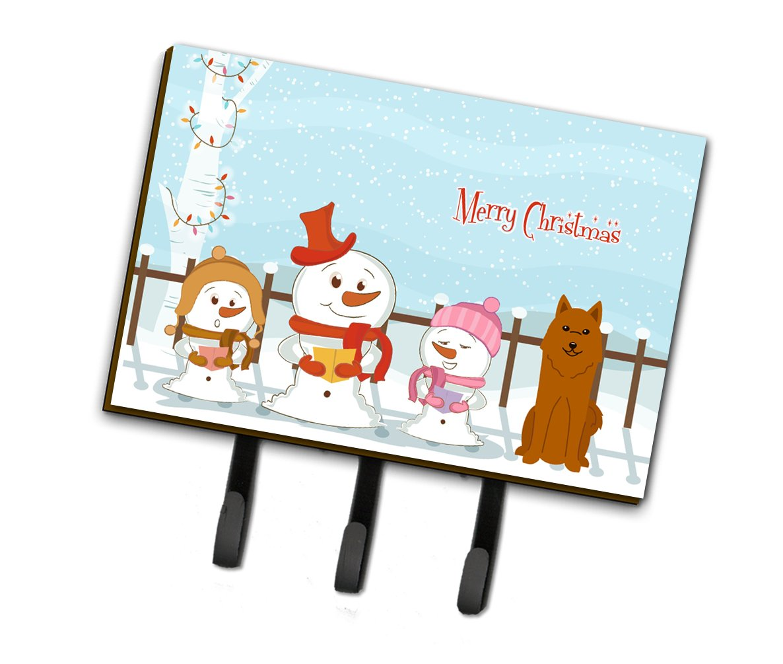 Triple, Carolines Treasures Merry Christmas Carolers Karelian Bear Dog Leash or Key Holder BB2353TH68