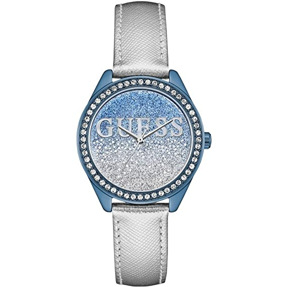 Guess Reloj Analógico para Mujer de Cuarzo con Correa en Cuero W0823L8
