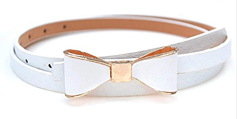 Sucre Belts/® Ladies Women Fashion Bowknot Skinny Leather Thin Waist Belt