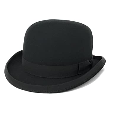 Cotswold Country Hats Luxury Stiff Build Traditional Wool Felt Bowler Hat.  Satin Lined. British e5cbc4a5651