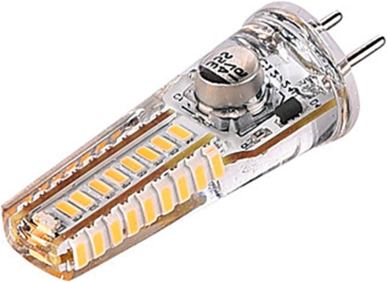 AC//DC 12-24 Volt Warm White 3000K GY6.35//G6.35 Bi-pin Base Welsun 24V GY6.35 LED Bulb 3Watt Equivalent to T4 JC Type 25W Incandescent Halogen Bulb 10-Pack