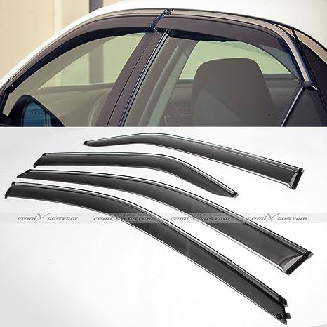 2012 2013 2014 2015 Toyota Camry Door Window Visors Rain Deflector Rain  Guard With Chrome Trim