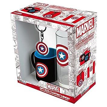 ABYstyle abypck098 – Marvel Mini-mug con Llavero y Vaso Captain America