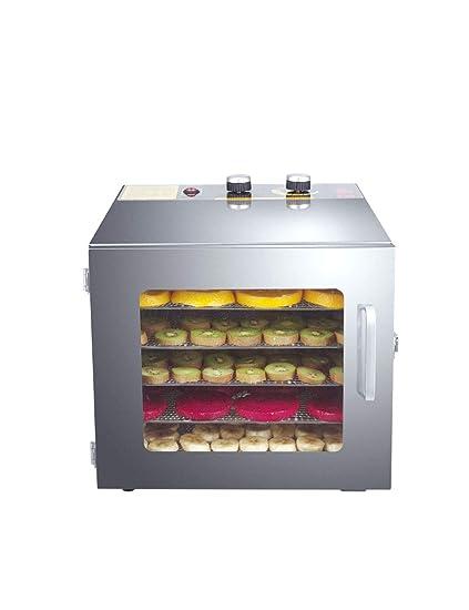 ZHWAN Deshidratador de Alimentos, 6 Bandejas Extraíbles, Secadoras de Frutas, Verduras y Carne