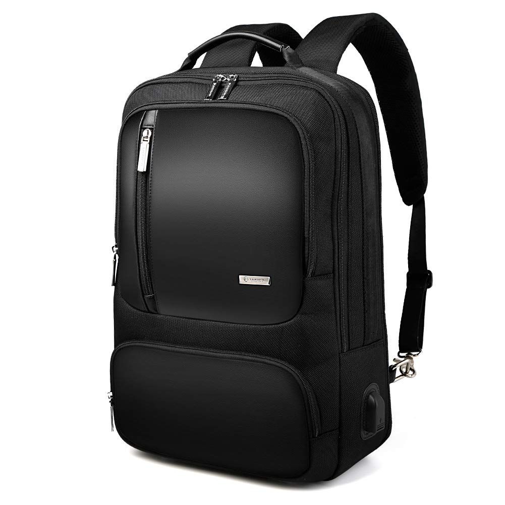 Men s 15 inch Laptop Business Backpacks College Student Water-Resistant Microfiber Leather Backpack for Men Model4