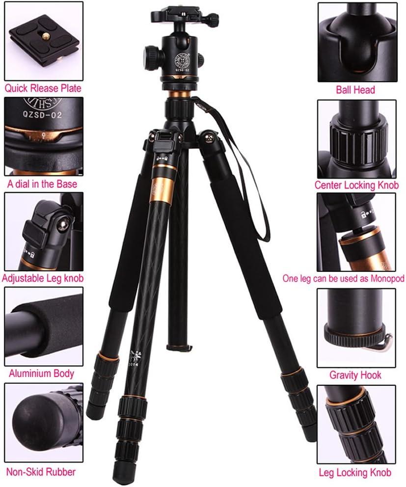 Camera Tripod Monopod Ball Head Aluminium Universal for Nikon Canon Sony DSLR SLR Dc Stable Q999
