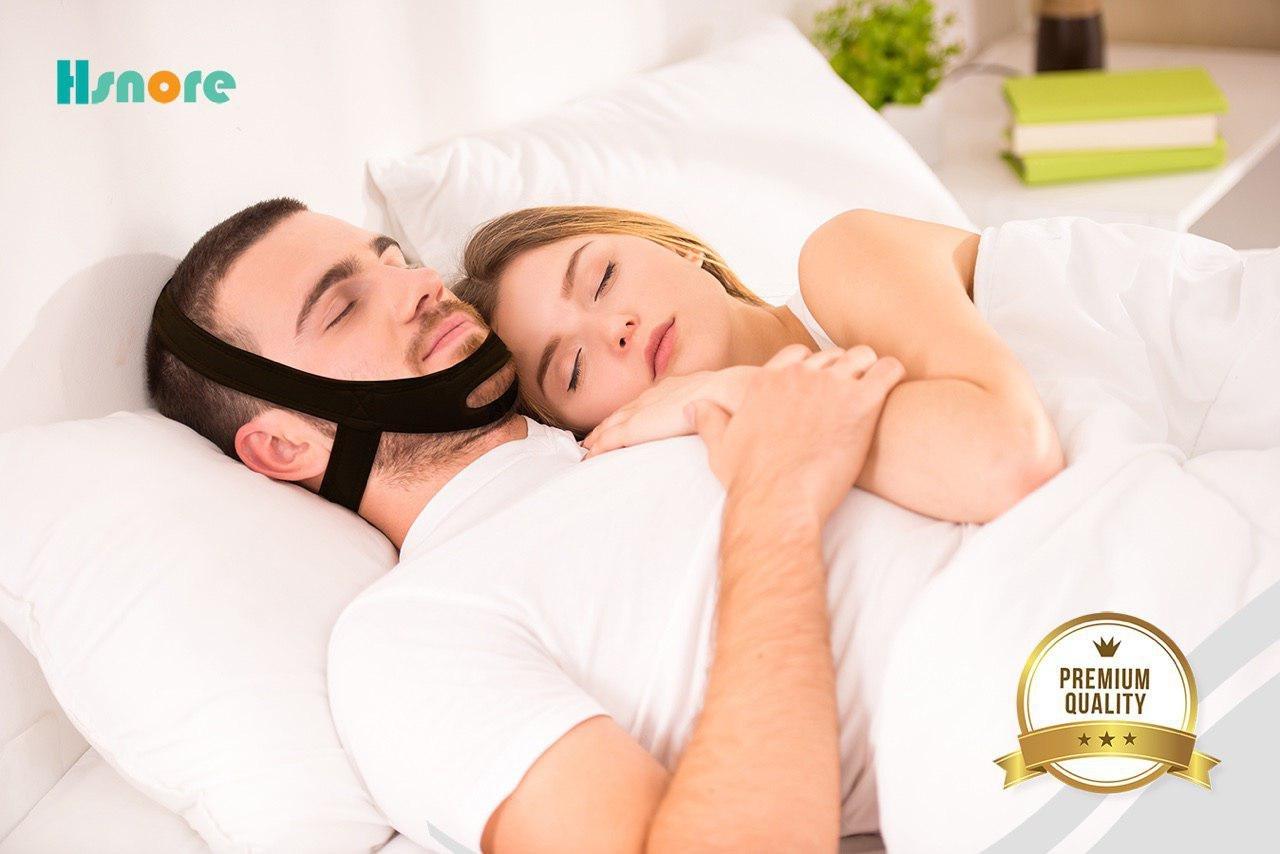 Hsnore - Adjustable Anti-Snore Chin Strap