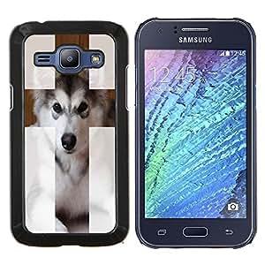 "Dragon Case - FOR Samsung Galaxy J1 J100 J100H - ""Hug me - Caja protectora de pl??stico duro de la cubierta Dise?¡Ào Slim Fit"