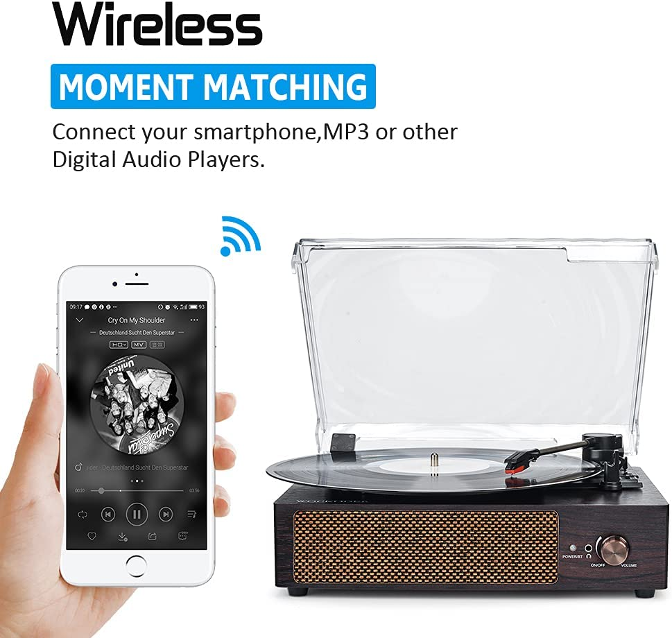 Record Player Turntable Wireless