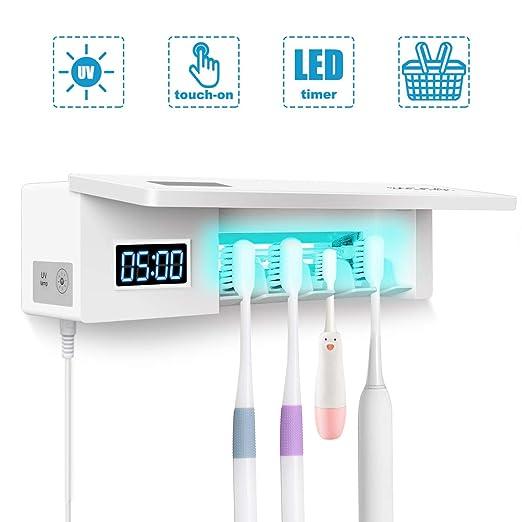 MECO Soporte para cepillo de dientes UV, 4 esterilizadores ...