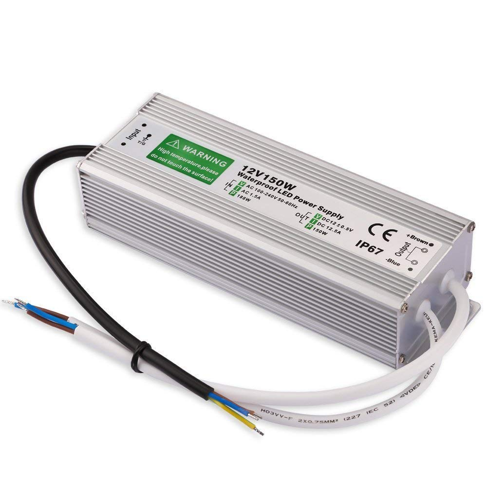 Outdoor Led Transformer 150w Driver To 12 Volt Dc Output Ip67 Together With 10 Watt Circuit On High Current Waterproof Power Supply 90v 250v 125a For Light Computer Project