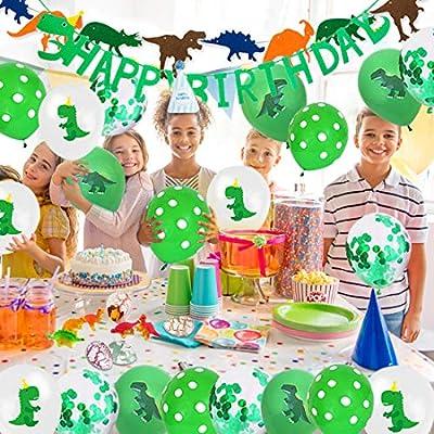 Decoracion cumpleaños dinosaurios, pancartas feliz ...