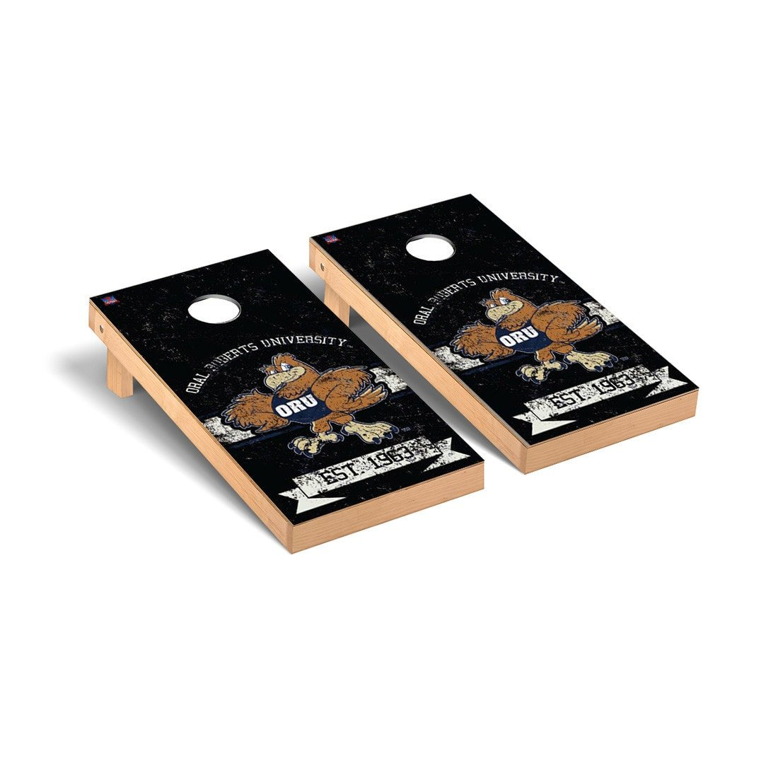 Oral Roberts oru Golden Eagles Cornhole Game Setバナーヴィンテージバージョン B01133Q8XK