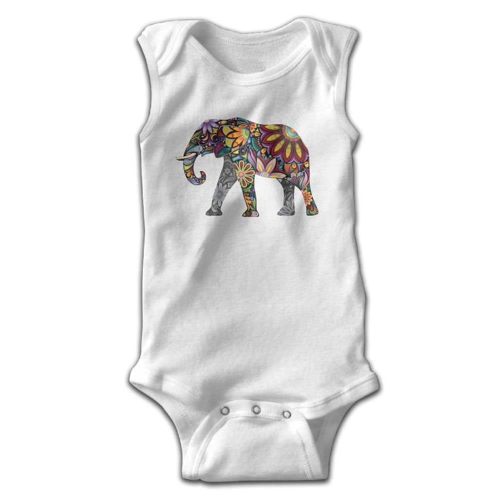 8cec2907f1 Amazon.com  Efbj Newborn Baby Boy s Rompers Sleeveless Cotton Onesie  Muticolour Elephant Outfit Jumpsuit Summer Pajamas Bodysuit  Clothing